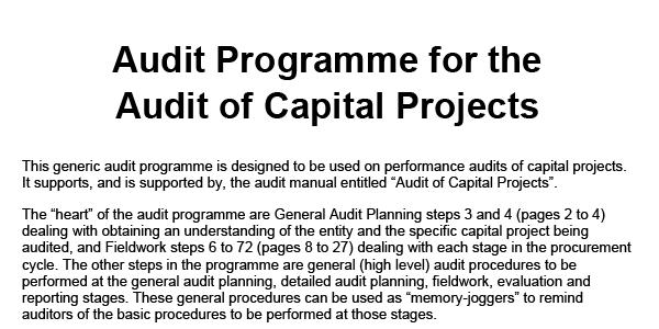 Audit Programme B