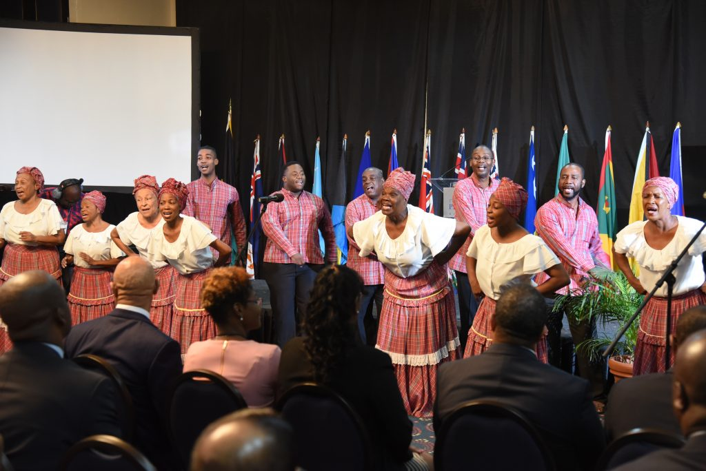 Jamaican Folk Singers perform at CAROSAI's 30th Anniversary Conference Opening Ceremony.
