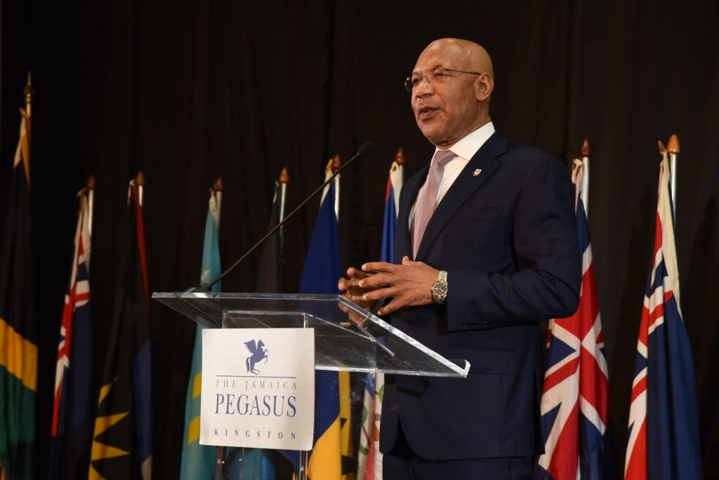 His Excellency The Most Honourable Sir Patrick Allen, Governor General of Jamaica, gives his keynote address at CAROSAI's 30th Anniversary Conference.